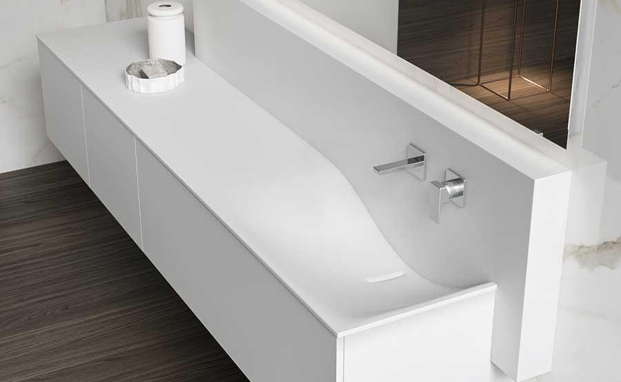 Piano integrato con il lavabo