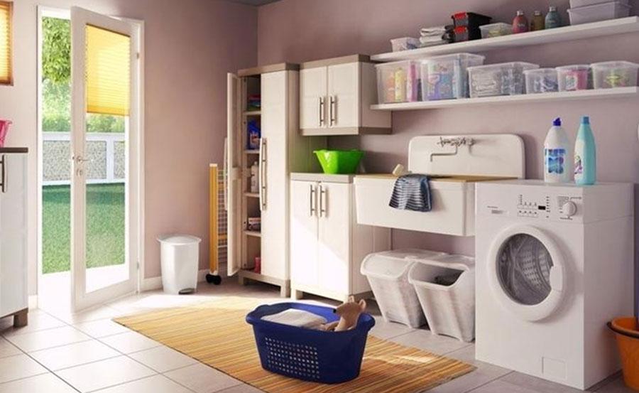 Area lavanderia attrezzata