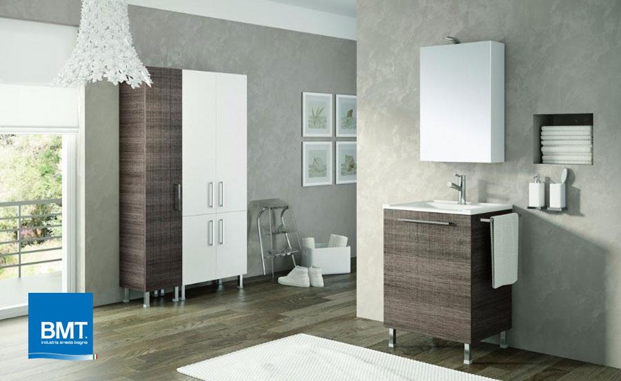 Mobile da bagno Double by Ideagroup - Finitura legno