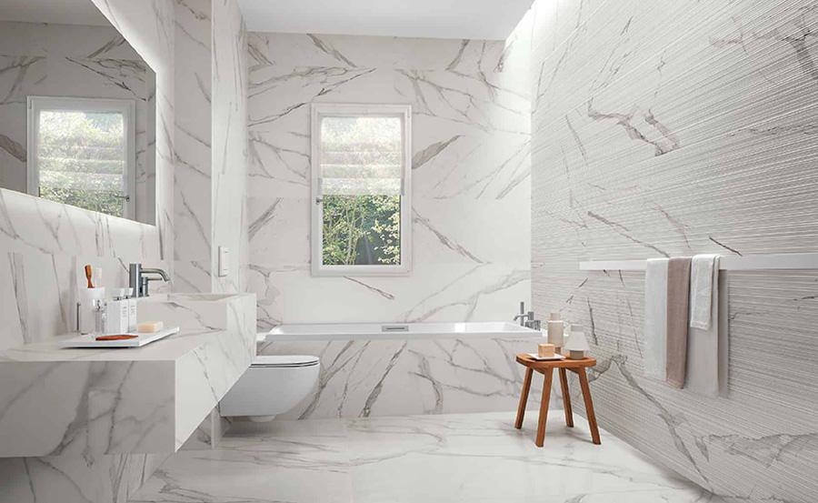 Tendenze bagno: arredo in marmo