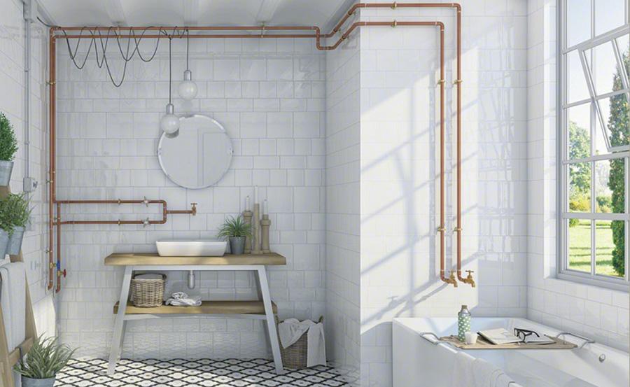 Tendenze bagno: arredo vintage