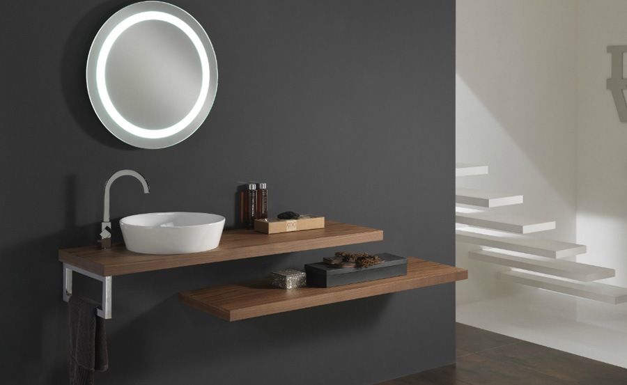 I colori di un bagno in stile minimalista