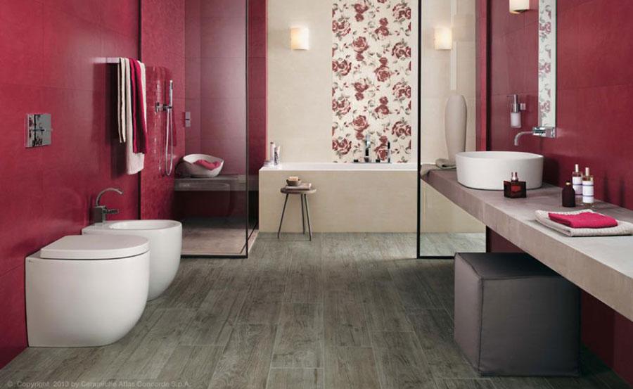 Bagni colorati pavimenti e rivestimenti in un esplosione di allegria bagnoidea - Alternativa piastrelle bagno ...