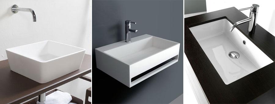 Lavabi bagno - Da appoggio, sospesi o ad incasso