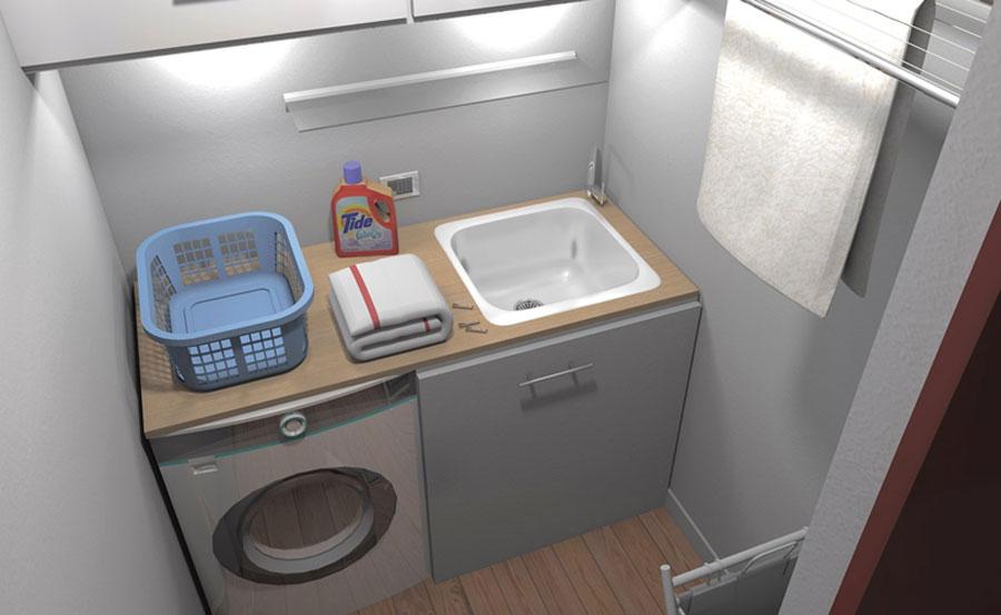 Piccola area lavanderia