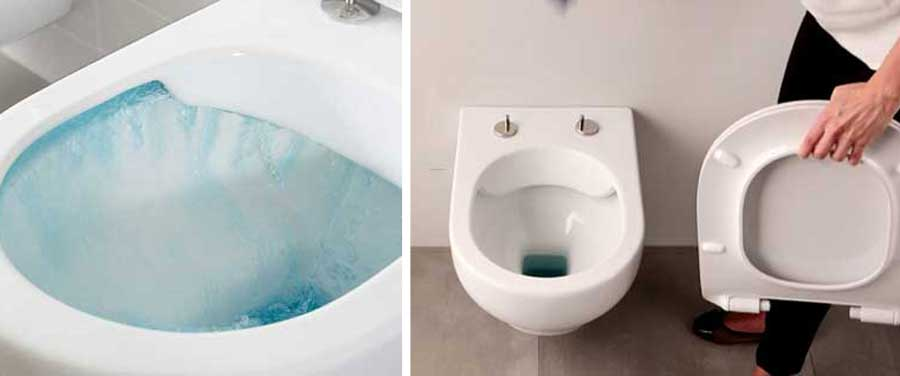 Facilità di pulizia: wc senza brida e tavoletta Take Off