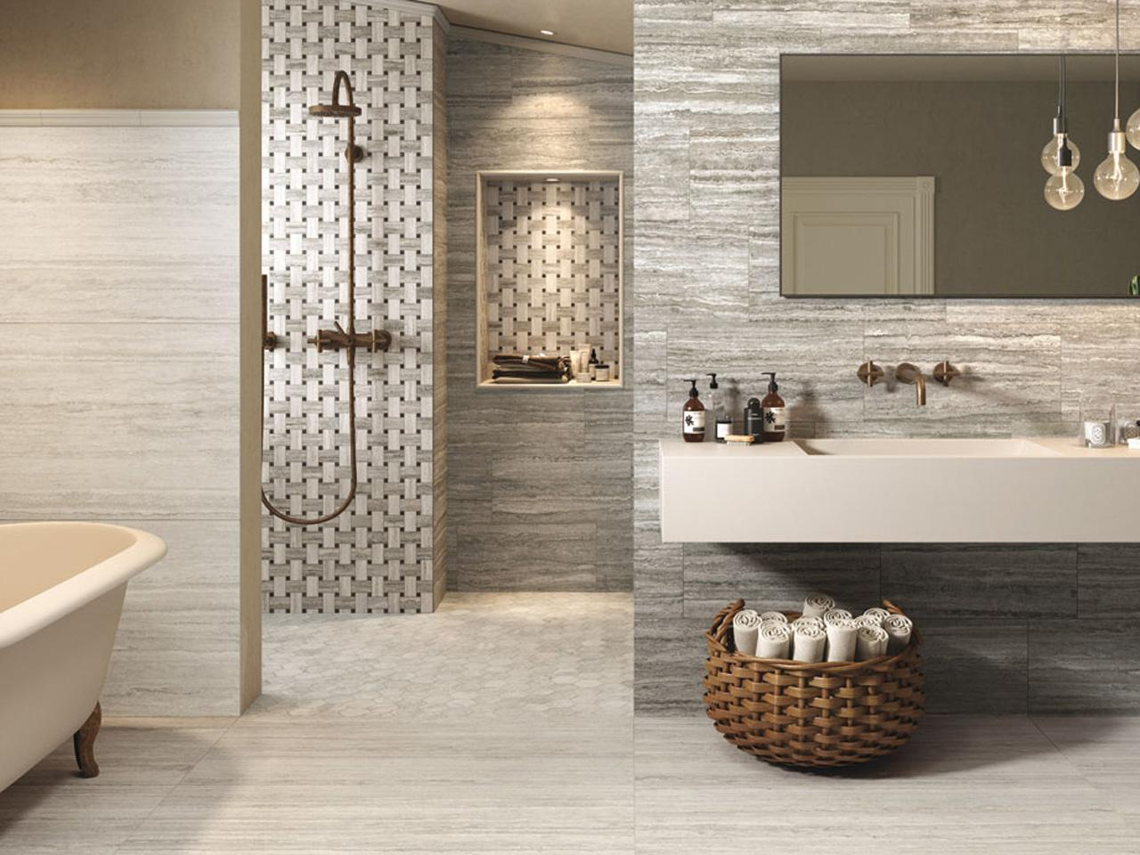 Bagnoidea prodotti e tendenze per arredare il bagno - Bagno arredamento piastrelle ...