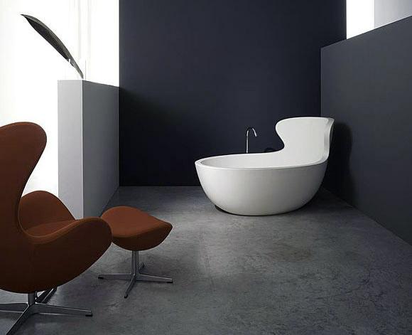 Vasca Da Bagno Ergonomica : Arne i la vasca da bagno dalla forma ergonomica realizzata da
