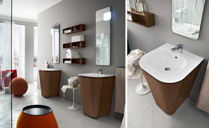 Bagno con due lavabi fabulous arredobagno galaxy cm - Bagno con due lavabi ...
