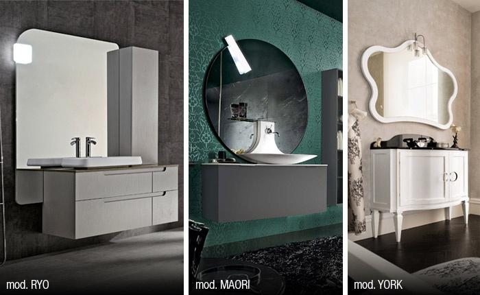Per un bagno più luminoso scopri le numerose specchiere con lampada