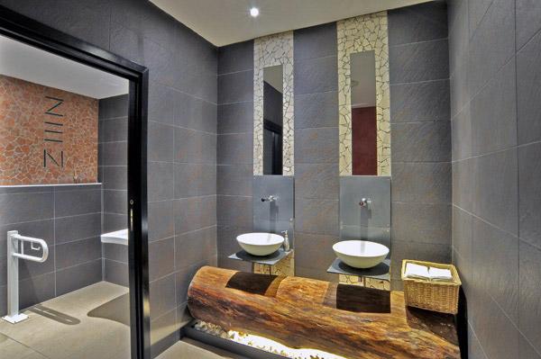 Un bagno zen realizzato con trekking le ceramiche in gres porcellanato di novabell bagnoidea - Arredo bagno zen ...