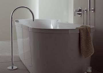 Vasca Da Bagno Verticale : Bocca per vasca da bagno con tubo verticale tara logic dornbracht