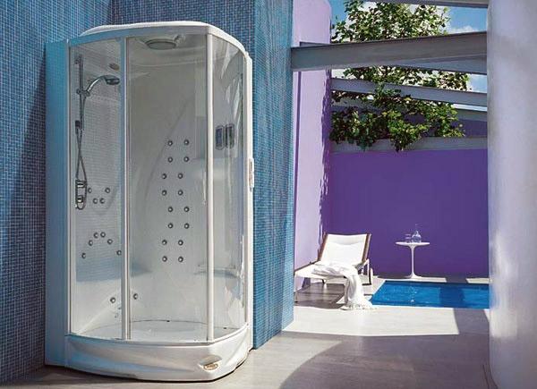 Il box doccia con idromassaggio flexa thema 120 di jacuzzi® offre