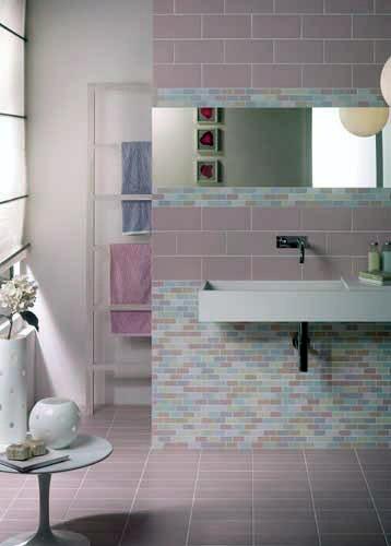 Colore piastrelle bagno classico chic colori caldi with - Colori piastrelle bagno ...