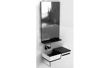 Colbam progetto bip piano appoggio lavabo mensola porta - Mensola porta piatti ...