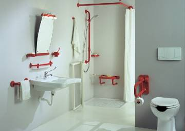 Bagno disabili e anziani completo arredo design bagnoidea