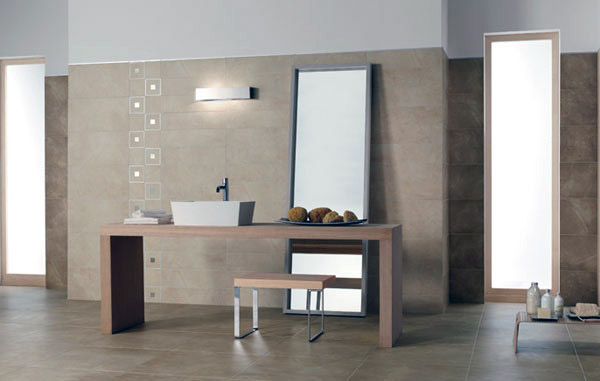 Del Conca propone KY, la ceramica d\'arredo per rivestire il bagno ...