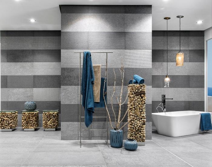 Bagni Moderni Con Pietra : Del conca presenta le piastrelle stone capital effetto