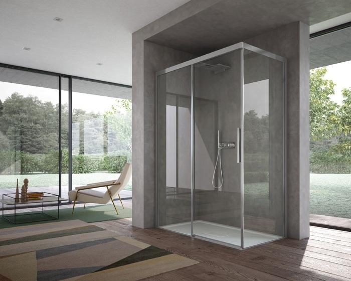 Bagni Con Doccia Senza Piatto : Disenia by ideagroup ha presentato la nuova cabina doccia focus