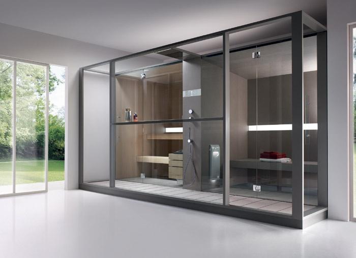 Cabine Doccia Sauna Combinate : Effegibi presenta logica twin combinazione armonica tra sauna