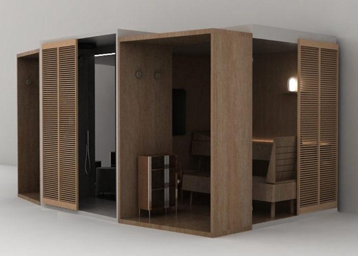 Glass idromassaggio presenta memo atrio sauna hammam e doccia