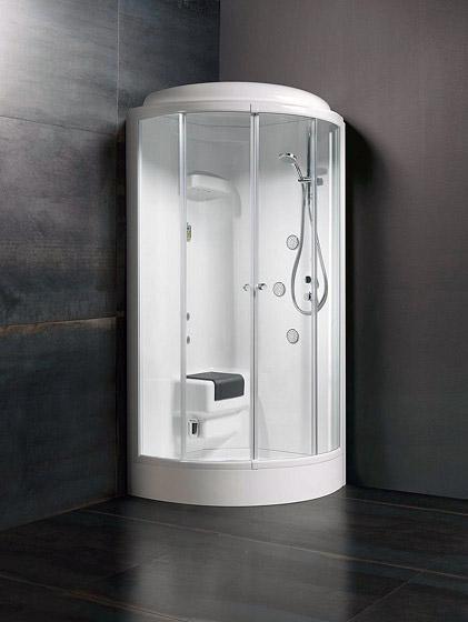 Glass Idromassaggio Presenta Techno 105 La Cabina Doccia A Vapore Per Il Bagno Bagnoidea