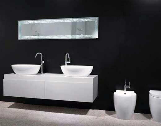 Lavandini Da Bagno Da Appoggio : Gsi presenta il lavabo panorama da appoggio con vaso e bidet big