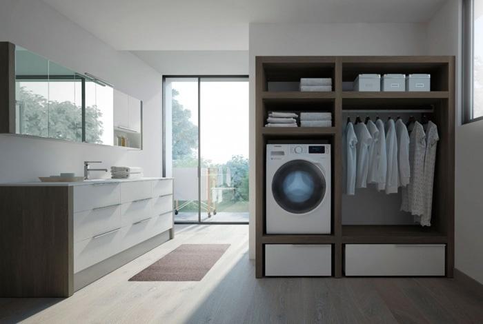 Idee e suggerimenti su come organizzare la zona lavanderia - Mobili per lavanderia domestica ...