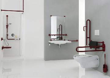 Maniglioni bagno disabili accessori e ausili per anziani bagnoidea - Bagni disabili esempi ...