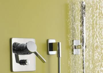 Miscelatore monocomando vasca da bagno con gruppo doccia lulu dornbracht - Miscelatore vasca da bagno ...