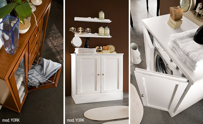 Mobile per lavanderia scopri l armadio coprilavatrice del bagno classico york di cerasa - Arredo bagno civita castellana ...