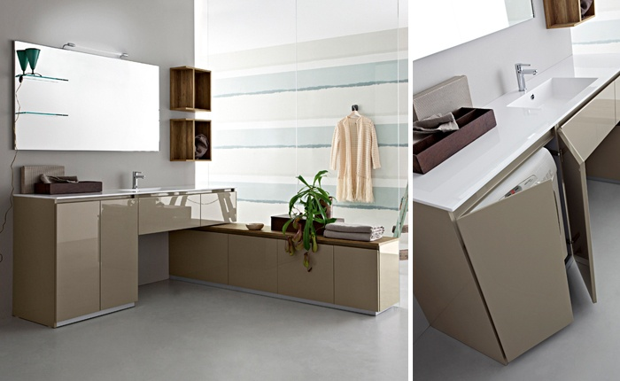 Stunning mobile bagno con lavatrice pictures for Lavatrice in bagno