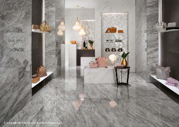 Piastrelle bagno grande formato effetto marmo bagnoidea