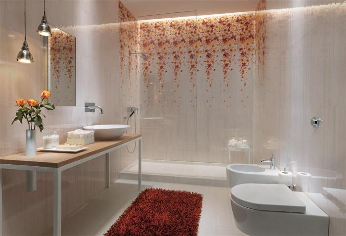 Rivestimenti fap ceramiche una pioggia di fiori per il tuo bagno