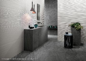 Rivestimento in pasta bianca 3D Wall Design - Flows White/Brave Grey