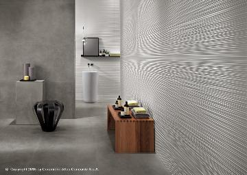 Rivestimento in pasta bianca 3D Wall Design - Line White/Dwell Gray