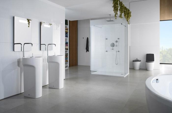 Vasca Da Bagno Con Rubinetteria Integrata : Roca presenta il nuovo lavabo amberes con rubinetteria integrata