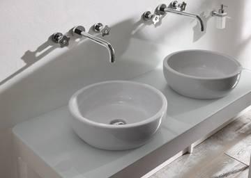 Rubinetto lavabo a muro collezione plp rubinetteria giulini - Rubinetteria bagno nera ...
