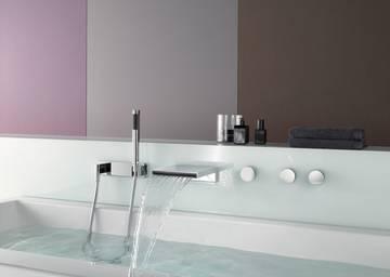 Rubinetteria vasca da bagno symetrics dornbracht - Rubinetteria a cascata bagno ...