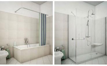 Sostituire la vasca da bagno con il box doccia grazie a - Piatti doccia piccoli ...