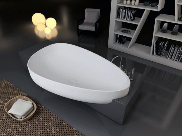 Vasca Da Bagno Materiali : Vasca da bagno beyond di glass: un nuovo equilibrio di forme e