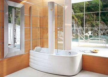 Vasca doccia combinata harpa twin jacuzzi - Vasche piccole con doccia ...