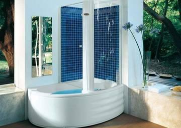 Vasca doccia combinata harpa twin jacuzzi - Vasche da bagno combinate ...