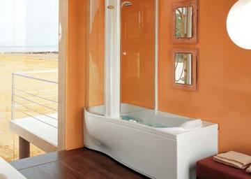 Vasca doccia combinata harpa twin jacuzzi - Vasca da bagno con doccia incorporata ...