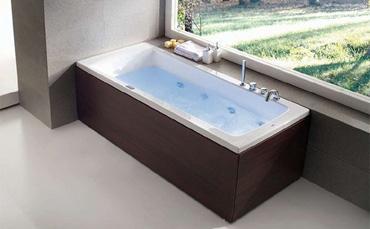 Vasche Da Bagno Idromassaggio : Vasca da bagno tonda in acrilico doppia idromassaggio