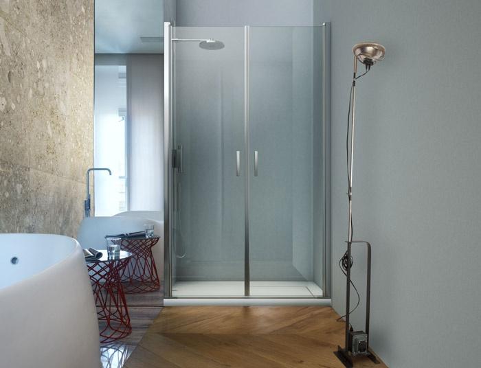 Box doccia in cristallo acqua duka massima trasparenza