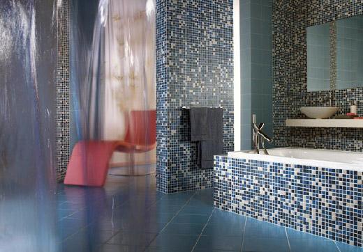 Wallcolor è il nuovo mosaico per il bagno di cemar bagnoidea