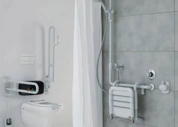 Box doccia basso per disabili e anziani ponte giulio s p a - Bagno disabili con doccia ...