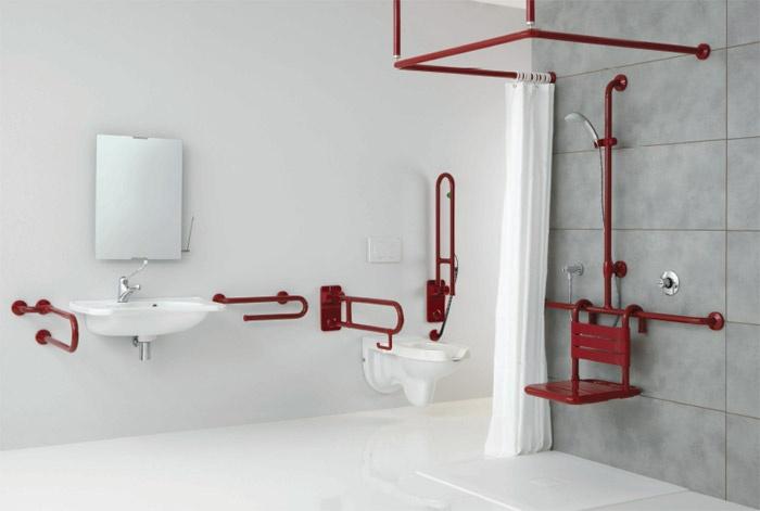 Ambiente bagno per disabili e anziani ponte giulio s p a for Arredo bagno per disabili