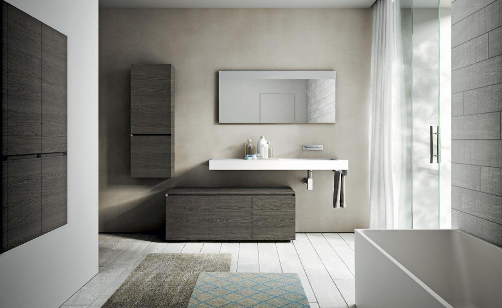 Arredobagno cubik in legno ideagroup - Accessori per bagno moderno ...